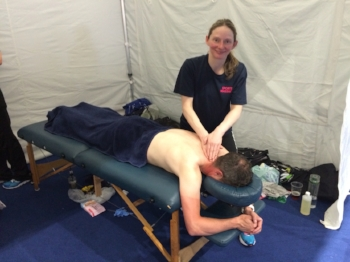 tanya giving sports massage at Gran Forno 2016.jpg
