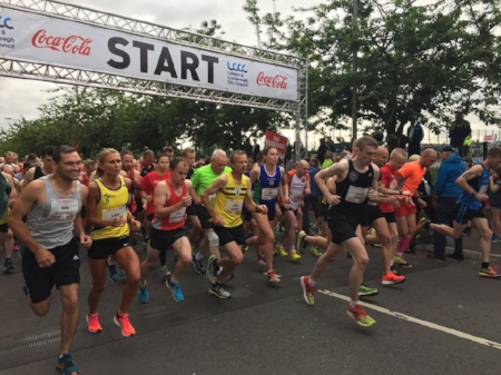Lisburn half marathon start line june 2018.jpg