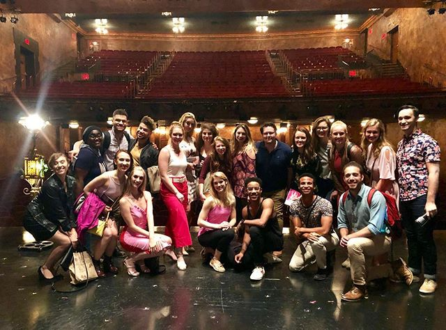 Our 2019 Residents met some Mean Girls last night! @meangirlsbway