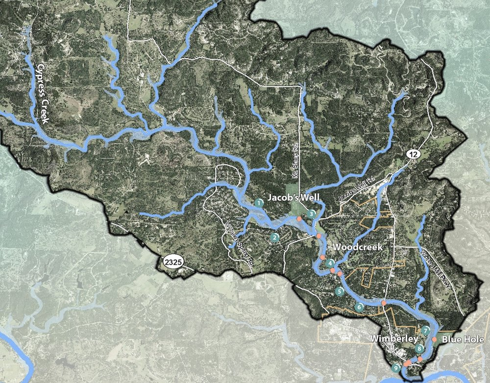Maps of the Cypress Creek Watershed