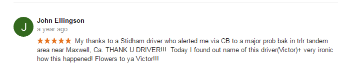 Google Review Stidham Trucking