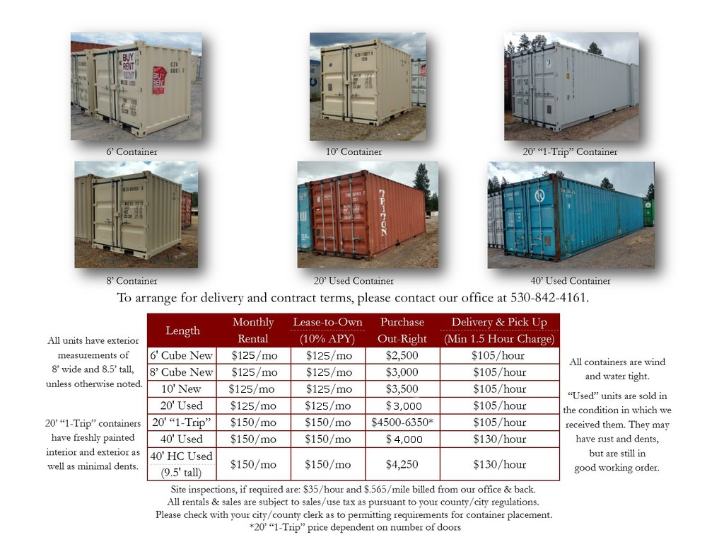 Container Sales Brochure Page 2