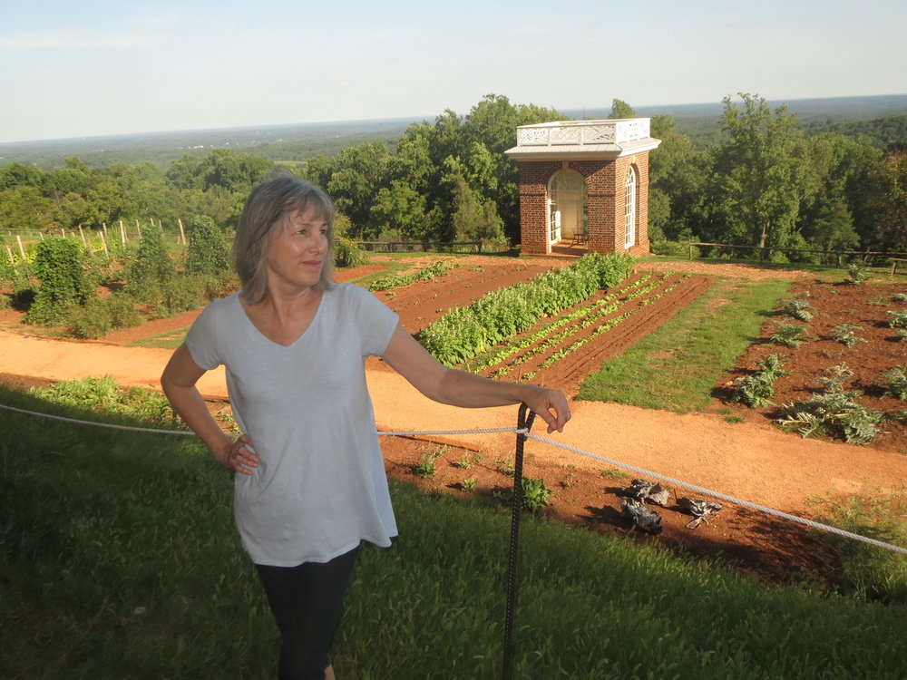 The Author at the Vegetable Garden