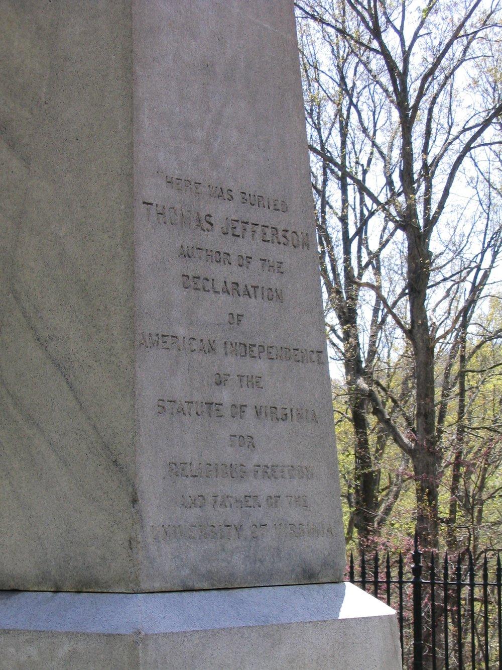 Jefferson's Gravestone