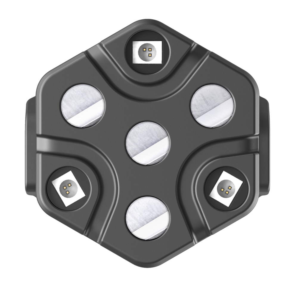 - LUMO's ground-breaking modular design consists of independent hexagonal sensor tiles that can be easily connected into any cap at any location to form a high-density fNIRS or diffuse optical tomography (DOT) array.