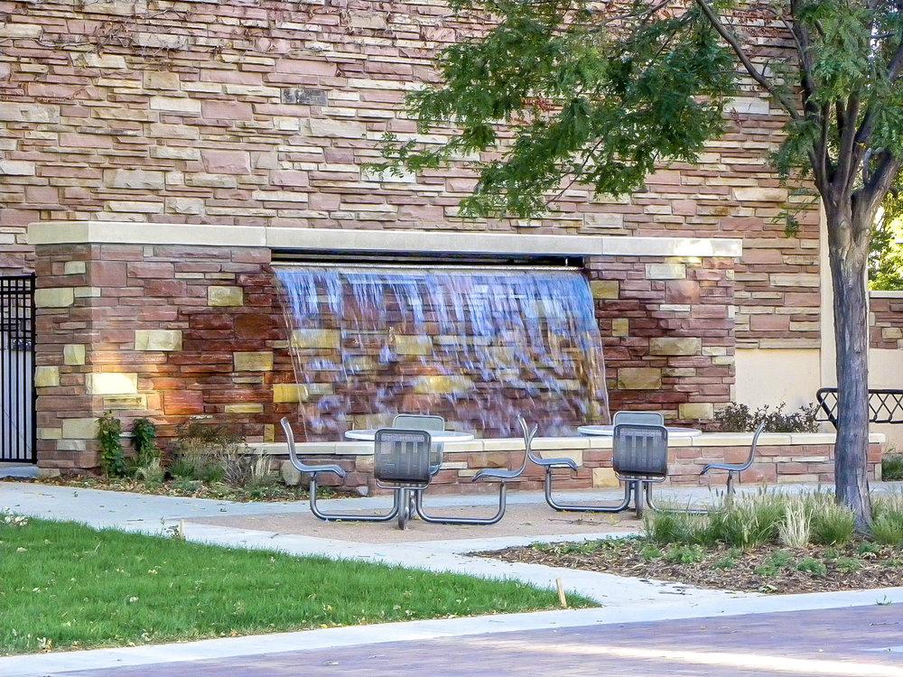 "<img src="" studioINSITE_CSU_Academic_Instruction_Bldg_Fountain ""alt=""Science Building, College Stadium, Pedestrian Mall, Sculpture Garden, Sustainable Campus, Sustainability, Bioswale, Landscape Architecture, Colorado State University, Fort Collins CO, Colorado, CSU, Behavioral Sciences Building, Center Avenue Pedestrian Mall, Hughes Stadium, Thomas Sutherland Sculpture Garden  "" title=""Colorado State University""/>"
