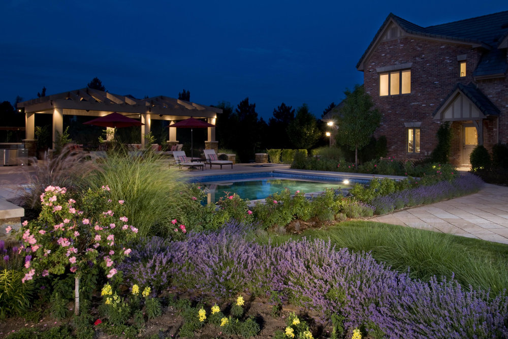 "<img src="" studioINSITE_Cherry Hills Village Private Residence_NightTime Photography "" alt=""Private Residence, Landscape Architecture, Landscape Design, Residential Landscape, Residential Design  "" title=""Private Residence Landscape Design  ""/>"