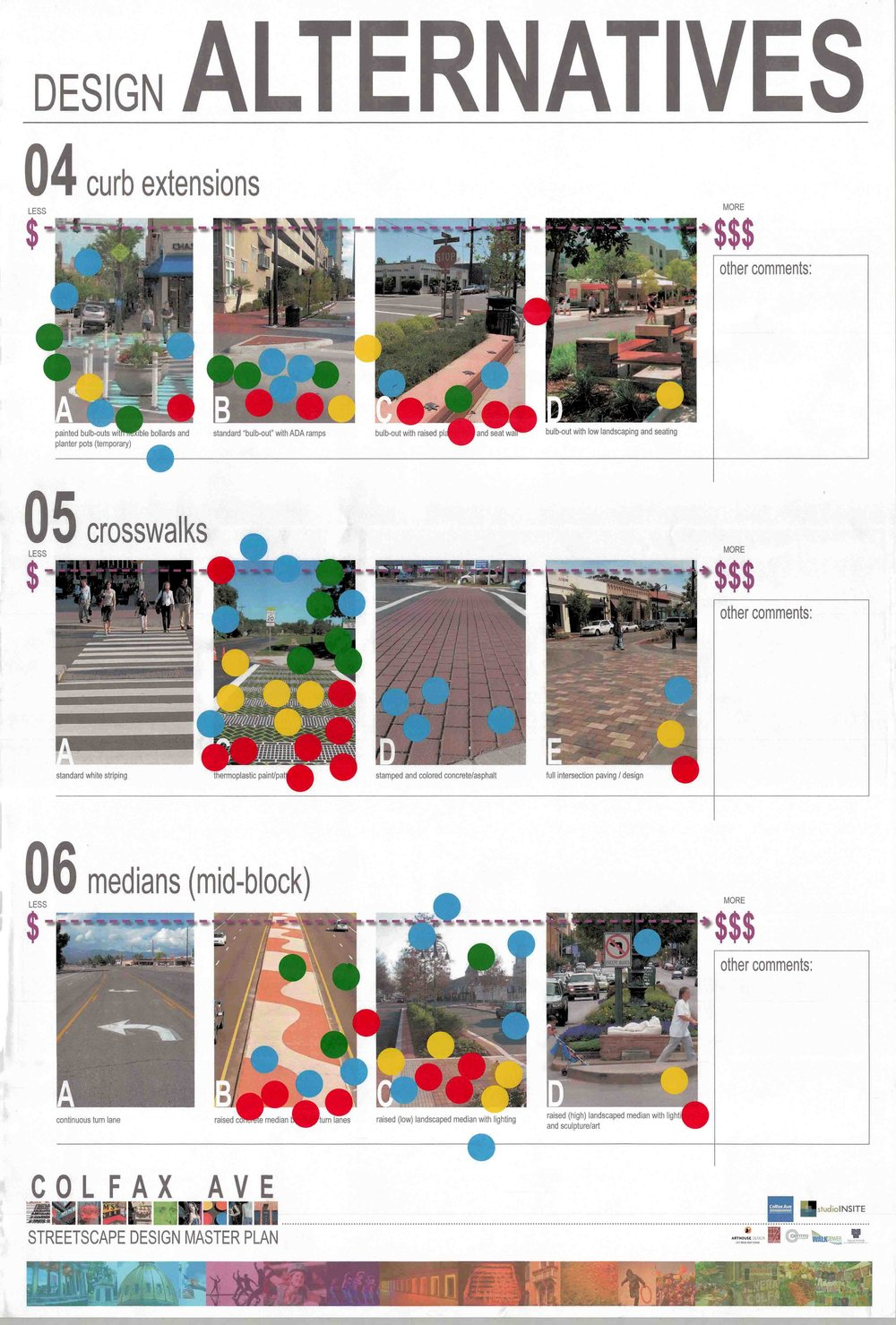 "<img src=""studioINSITE_E_Colfax_Stakeholders"" alt=""Streetscape Design, Master Plan, catalyst Project, Funding Plan, Phasing Plan, Public Outreach, BID, Bus Rapid Transit, Complete Streets, Streetscape Guidlines, Signage and Wayfinding, Public Art, Community Gateways, Landscape Architecture, Urban Design"" title=""Colfax Avenue Streetscape Design Master Plan""/>"
