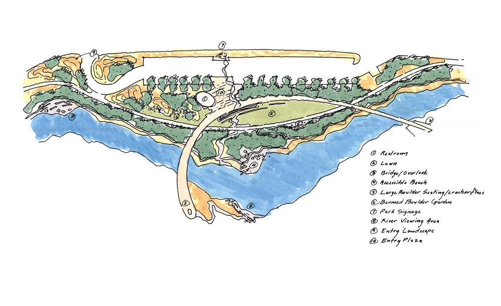 "<img src=""studioINSITE_Eagle_River_Park_Concept""alt=""Master Plan, River Corridor, Pedestrian Bridge, Whitewater park, Trail System, Conservation, Mountain Community, Eagle Colorado, Town of Eagle, Eagle River Park, I-70 Corridor,"" title=""Eagle River Corridor Master Plan""/>"