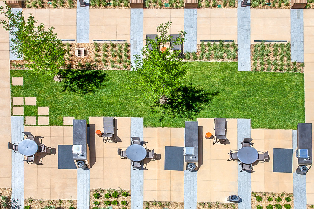 "<img src="" studioINSITE_The_Douglas_Birds Eye_Paving "" alt=""Urban Living, Multifamily Courtyard, Amenity Deck, Fire Pit, Grill Area, Shade Structure, Fireplace, Landscape Architecture, Luxury Living, the Douglas, Denver, CO, Colorado Courtyards, Amenity Spaces, Great Courtyard Designs  "" title=""The Douglas  ""/>"