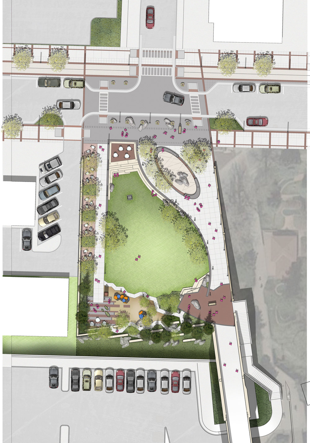 """<img src=""""  studioINSITE_Glendwood_Springs_6th_St_Park_Site Plan Illustrative  """"alt=""""Park, Bridge Replacement, Pedestrian activation, Pedestrian Bridge, Streetscape, Playground, Art Walk, Community Engagement, Landscape Architecture  """" title=""""  Glendwood   Springs   6th   St   Park  """"/>"""