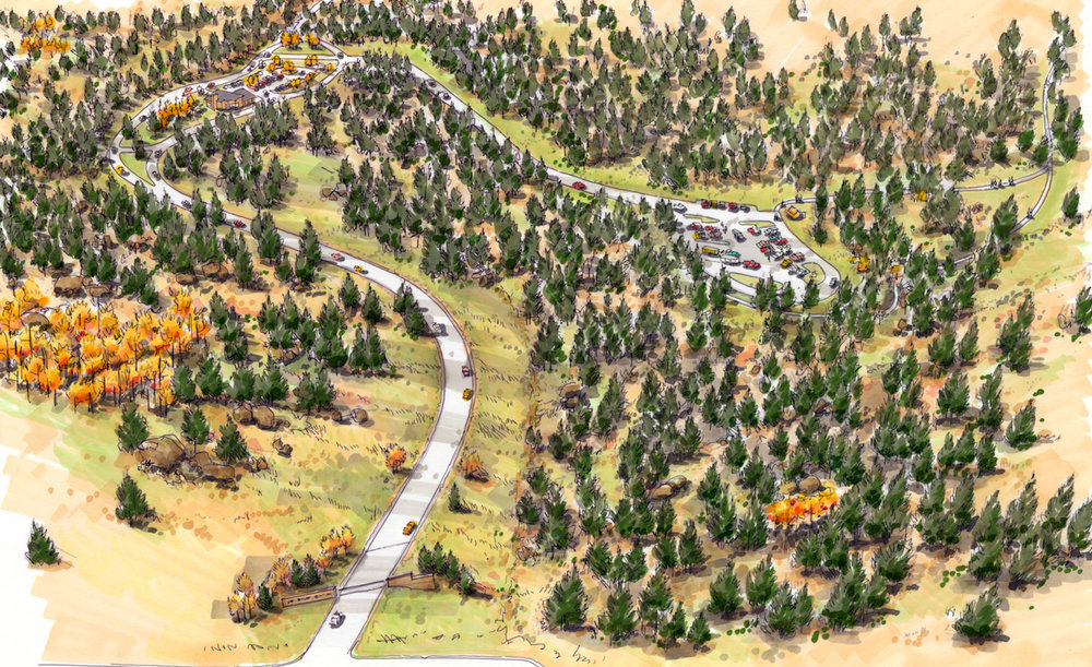 "<img src="" studioINSITE_Staunton Aerial "" alt=""  Parks master plan, trails, trail siting, multi-use trails, picnic area, campground, visitors center, educational classroom, master plan, landscape architecture  "" title=""Westin Monache""/>"