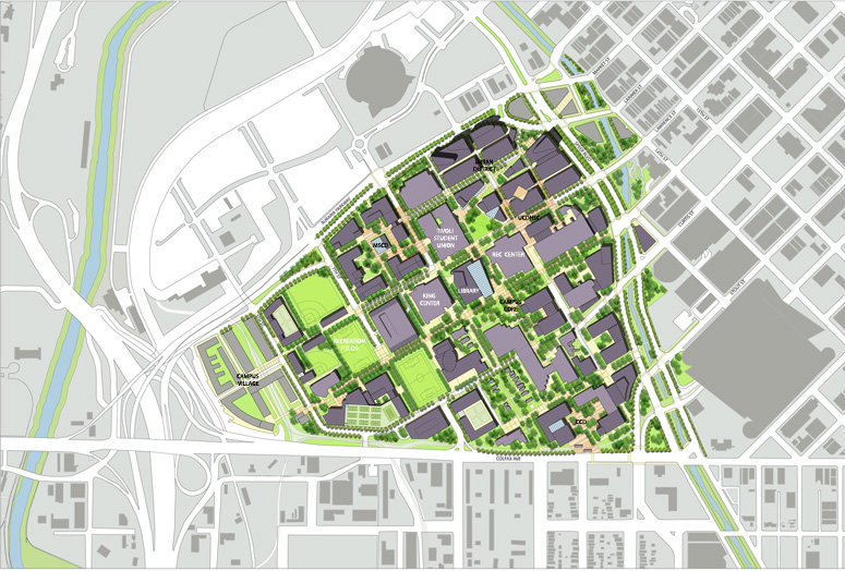 "<img src="" studioINSITE_Auraria_Higher_Education_Master Plan "" alt=""Campus Master Plan, Science Building, Student Union, Athletic Facility, Urban Campus, Pedestrian Mall, Landscape Architecture, Auraria, Denver, CO  "" title=""Auraria Higher Education Center""/>"