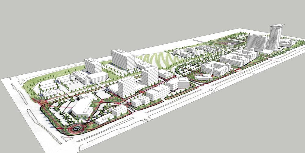 "<img src=""studioINSITE_Overland Park_Sketchup_Model2""alt=""Master plan, charrette, mixed use, entertainment district, 2D + 3D visualization"" title=""College & Metcalf Entertainment Development""/>"