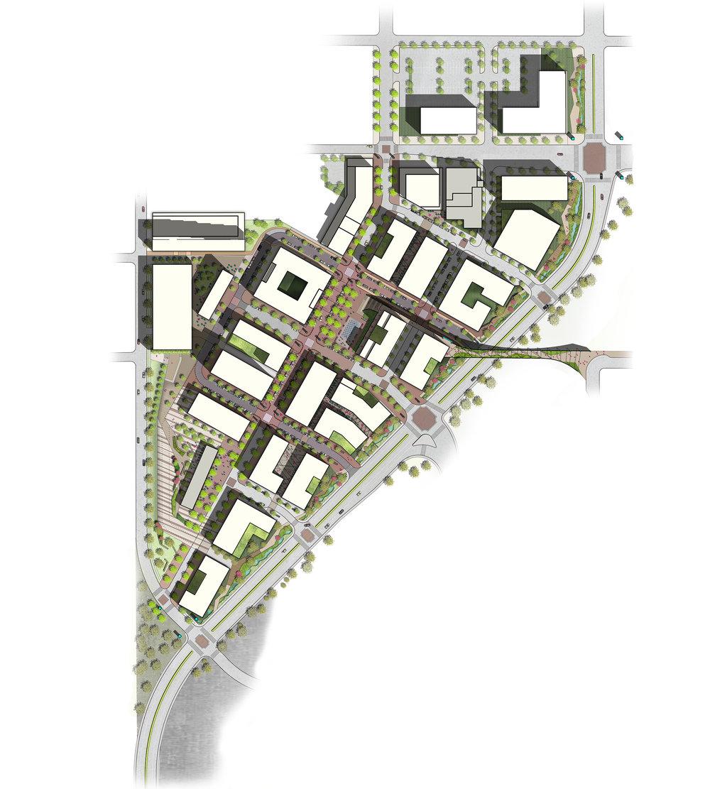 "<img src="" studioINSITE_SaddleCreekUNMC_Illustrative Plan ""alt=""Bridge, Pedestrian activation, Pedestrian Bridge, Streetscape, Playground, Art Walk, Community Engagement, Medical Center, Medical Campus, Omaha NE, UNMC, Saddle Creek, Urban Design, Master Planning, Landscape Architecture  "" title=""Saddle Creek  ""/>"