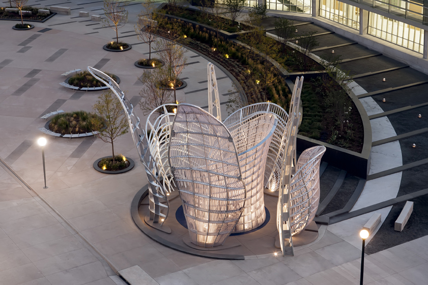 - Art installation to deter vehicular access to exposed portion of the Denver Justice Center courtyard