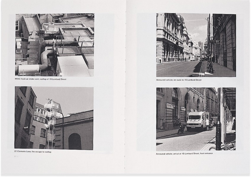 janice kerbel - 15 Lombard street - art-piece / research on how to rob a bank