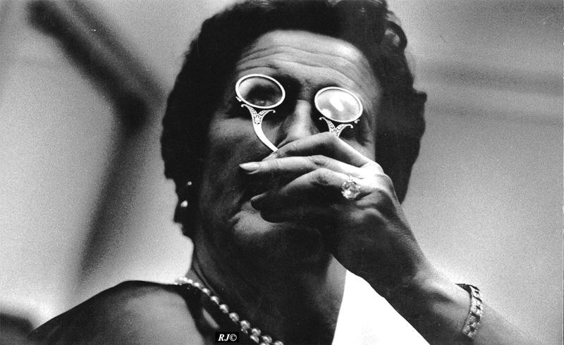 Woman with lorgnette, Metropolitan Museum, 1958
