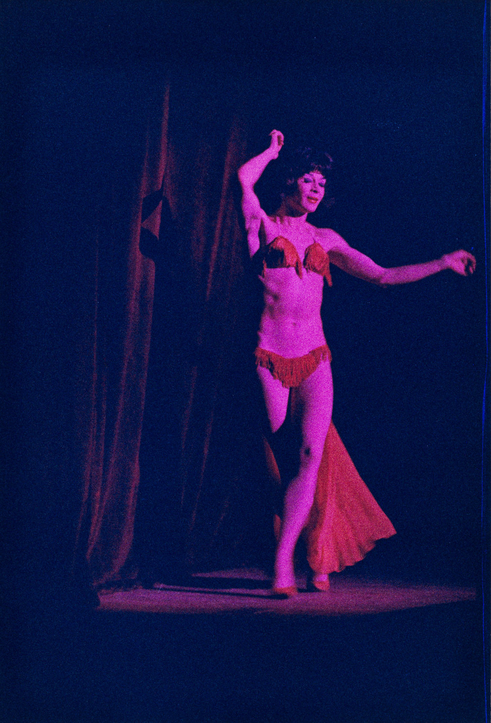 Performer in bikini, Jewel Box Revue, 1962