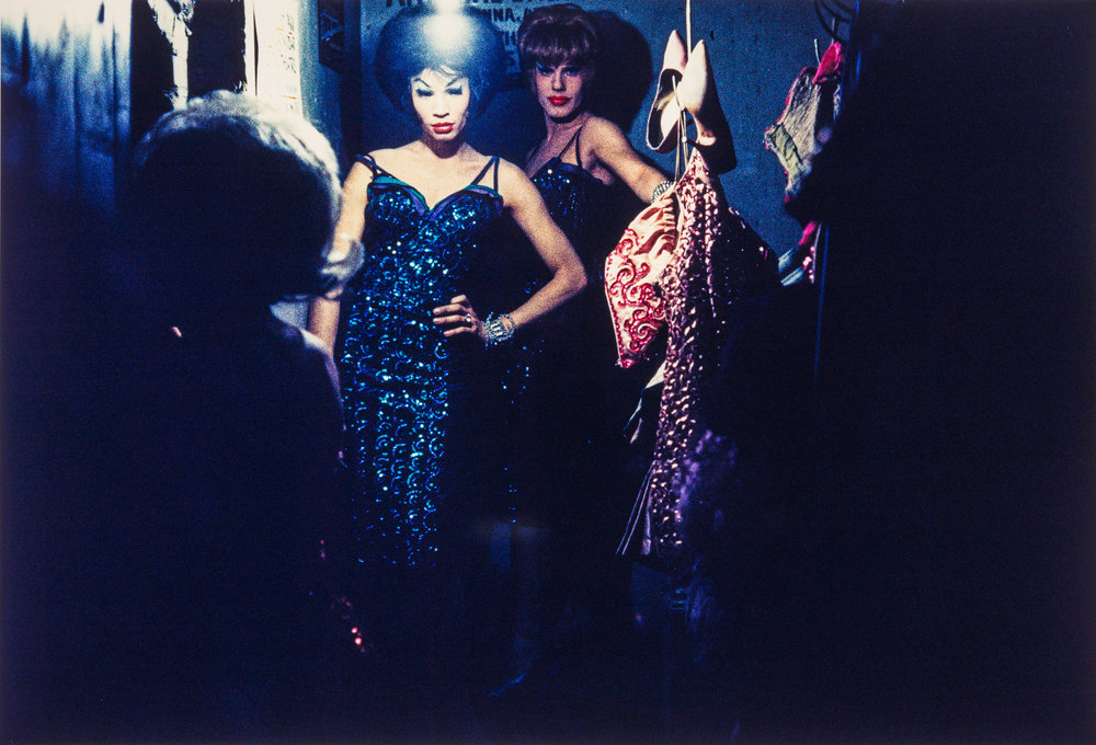 2 performers in sequin dresses, Jewel Box Revue, 1962