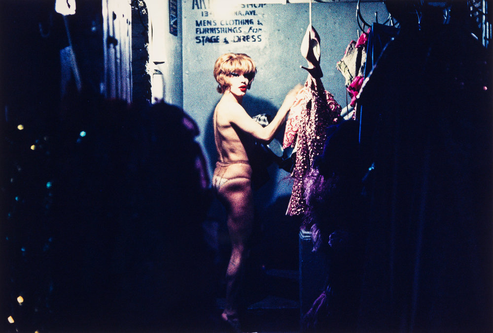 Almost naked performer, Jewel Box Revue, 1962