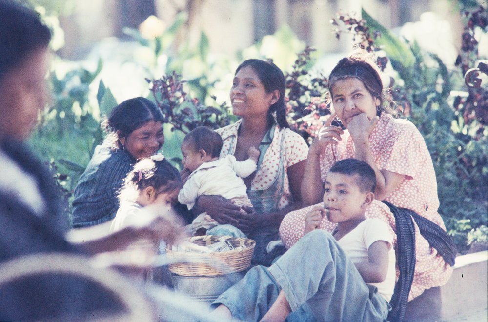 Family scene, Mexico, 1957
