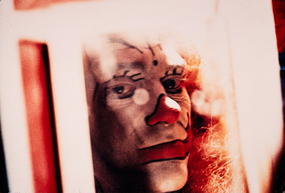 Clown portrait #3, NYC, 1959