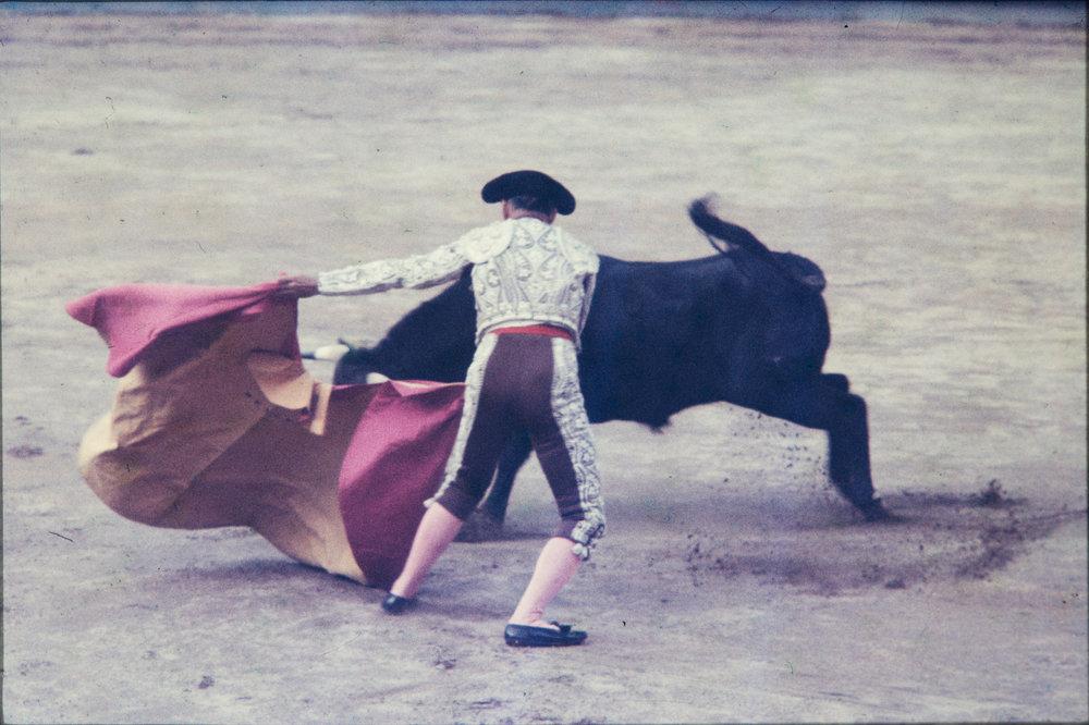 Matador and bull #2, Mexico, 1957