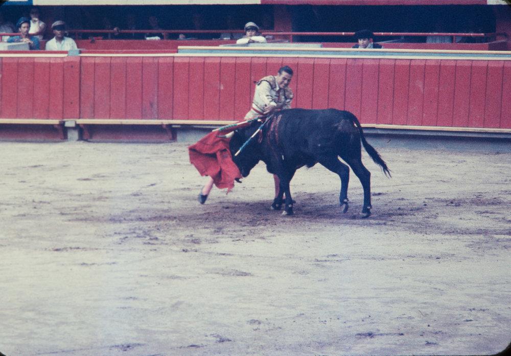 Matador and bull #3, Mexico, 1957
