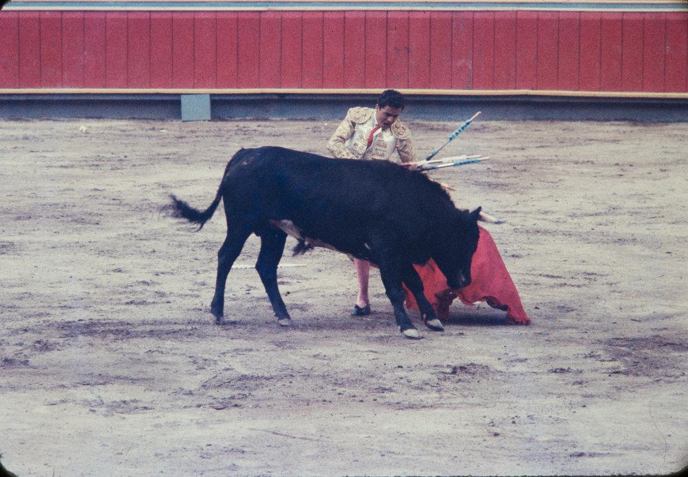 Matador and bull #6, Mexico, 1957