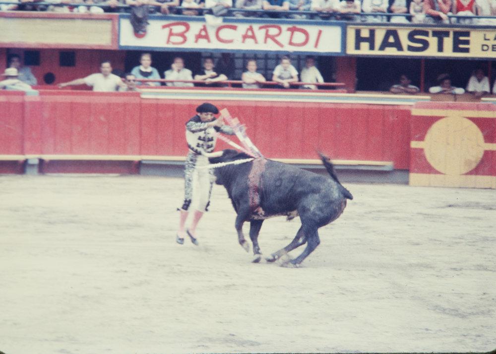 Matador and bull #7, Mexico, 1957