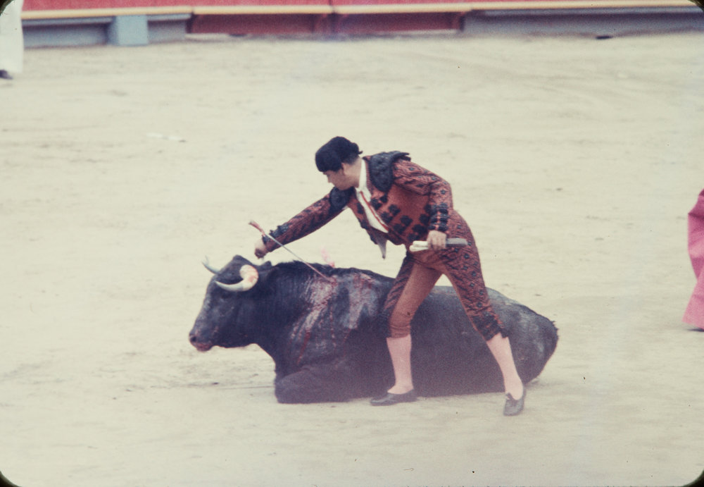 Matador and bull #8, Mexico, 1957
