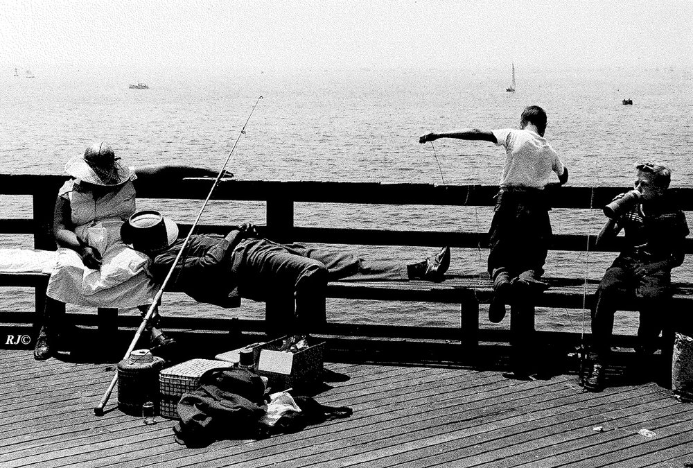 Fishing, Coney Island, 1954