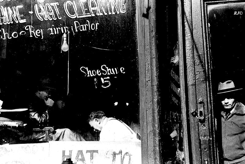 Shoe Shine, New York City, 1953