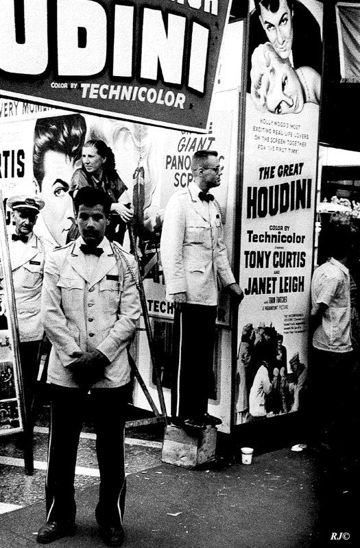 The Great Houdini poster, Times Square, 1952