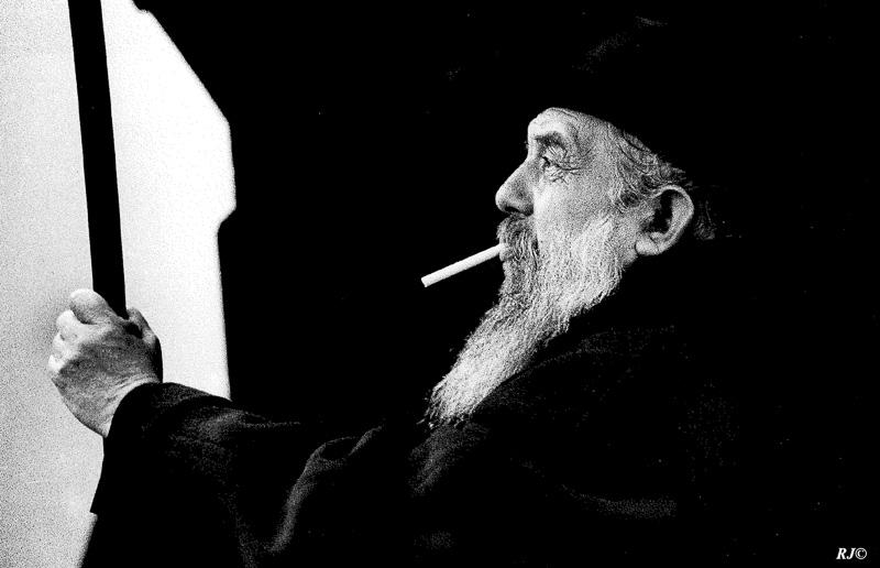 Bearded rabbi, Lower East Side, 1954