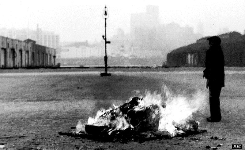 Street fire, Manhattan, 1947