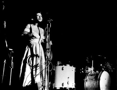 Billie Holiday performing