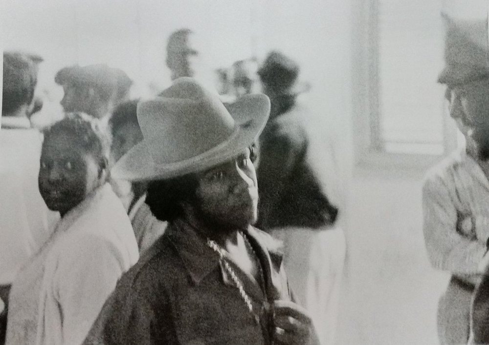 Castro rebel with big hat, Matanzas, Cuba, 1959