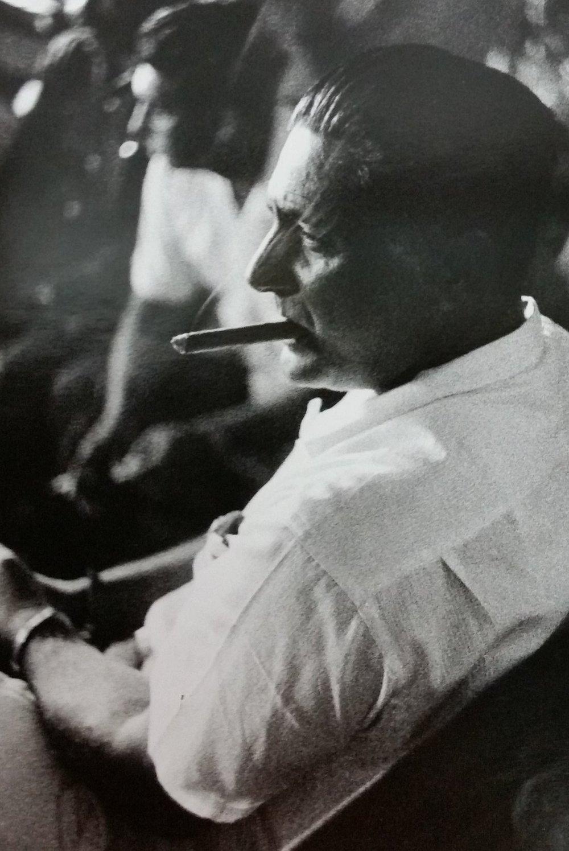 Spectator with cigar, Matanzas, Cuba, 1959