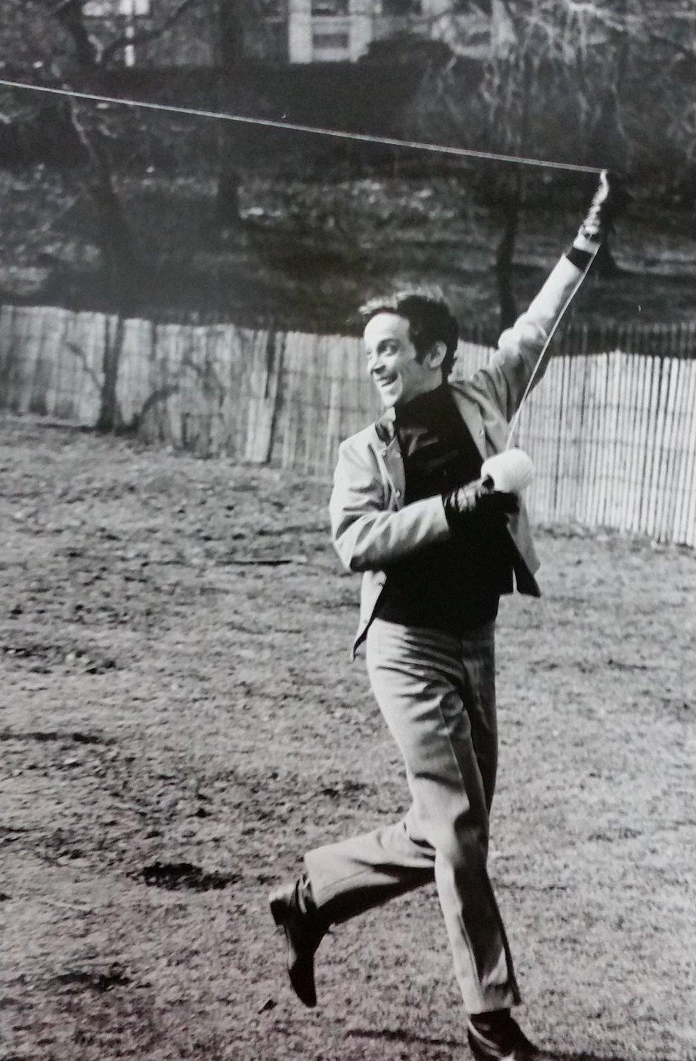 Joel Grey in Central Park, 1960s