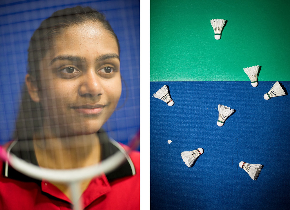Soumya Gade, 15, a talented local badminton player, has Olympic dreams. For INDY Week.