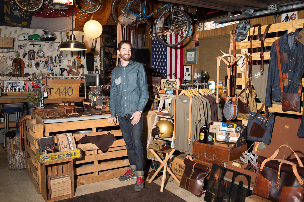 Derek Keller owns 440 Gentlemen's Supply in Raleigh. For Walter Magazine.