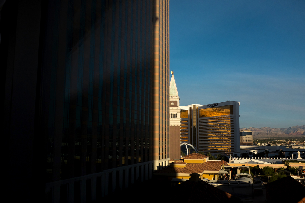 Morning view from the Venetian Resort Hotel and Casino, Las Vegas, Nevada.