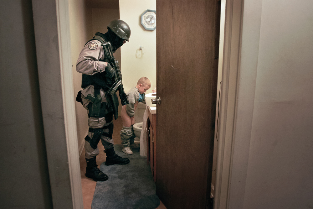 After the drug raid, Durham. Personal Work.