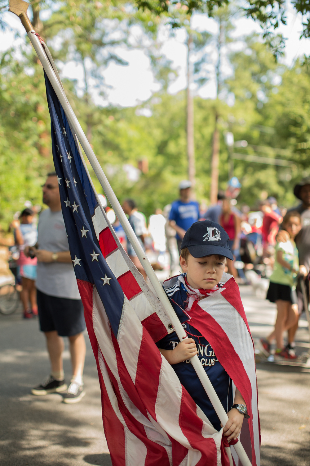 The Watts-Hillandale Neighborhood Independence Day Parade: Patriotic pageantry at Oval Park in Durham.
