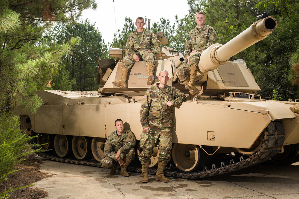 National Guard tankers at Ft. Bragg for GX Magazine.