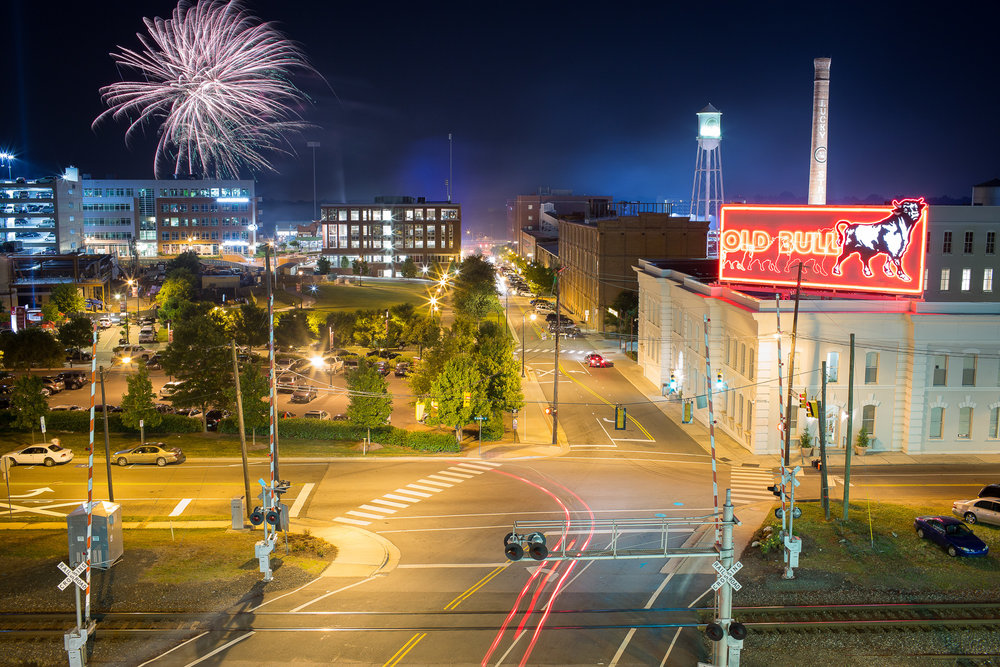 Fireworks over Durham Bulls Athletic Park