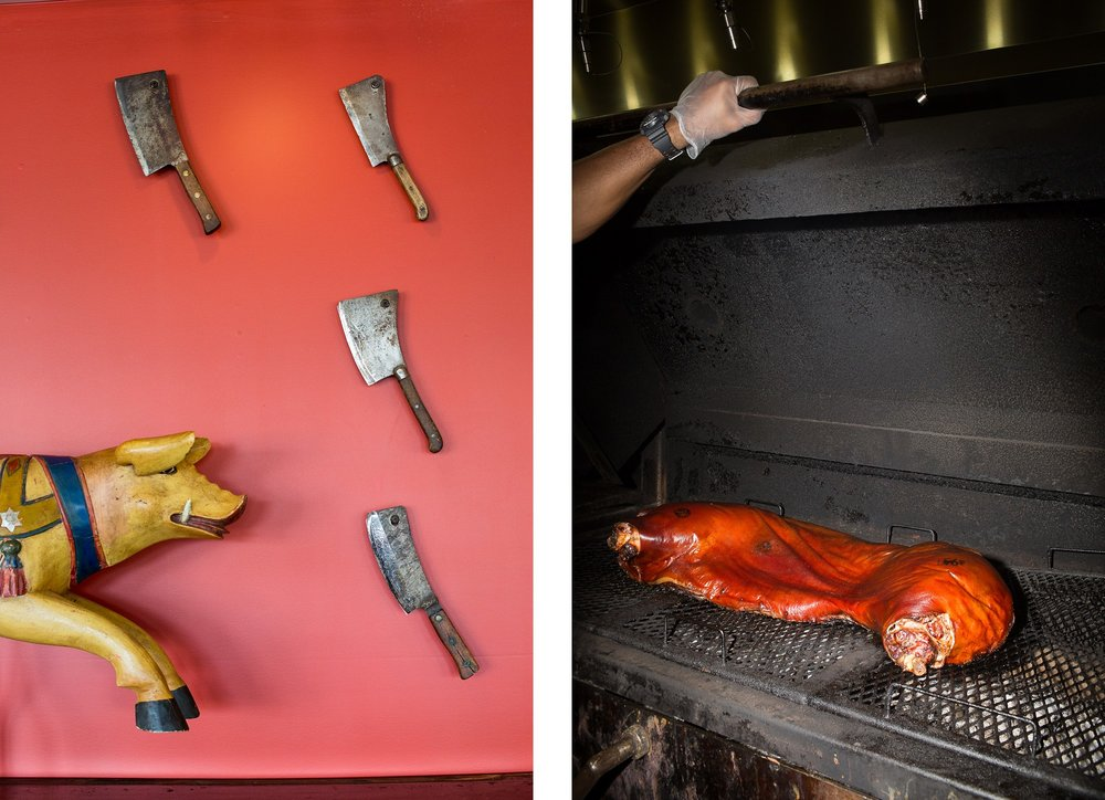 The Pit Authentic BBQ in Durham for The New York Times.