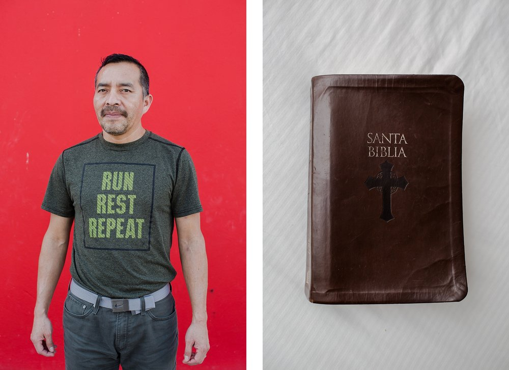 Samuel and his beloved Bible in Mexico after he was deported. Samuel Oliver-Bruno is a Mexican #immigrant who was living in #sanctuary at CityWell Church in Durham, N.C. since late 2017. The day after Thanksgiving, November 23, 2018, he was lured to the U.S. Citizenship and Immigration Services office in Morrisville for a fingerprint appoint -- part of the process to have a stay on his deportation, and ultimately become a citizen. He was suddenly arrested by #ICE agents, but not after his church community blocked his detention van from leaving the parking lot for hours. Samuel is diabetic, and when he was ultimately deported by ICE they sent across the border with very little insulin, no syringes, or monitor, no cash and none of his personal belongings.